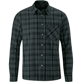Maier Sports Karo Langærmet top Herrer, dark/grey check